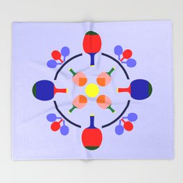 Table Tennis Design Throw Blanket