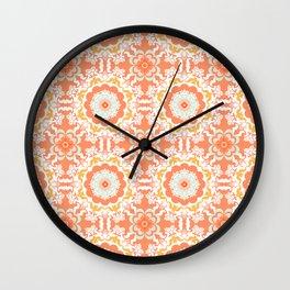 Indigo & Papaya Pattern 09 Wall Clock