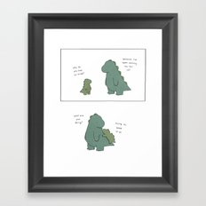 Keep Your Tail On Framed Art Print