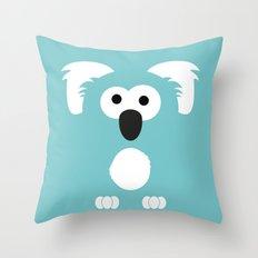 Minimal Koala Throw Pillow