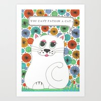 Art Print featuring You Can't Fathom A Cat by Vix Harris