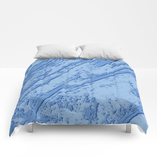 BLUE MARBLE EFFECT Comforters