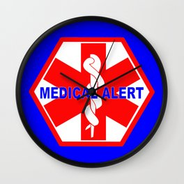 MEDICAL ALERT IDENTIFICATION TAG Wall Clock