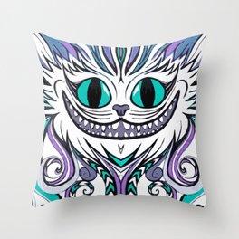 Chesire Smile Throw Pillow