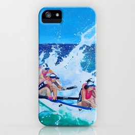 Surf Boat Rowers iPhone Case