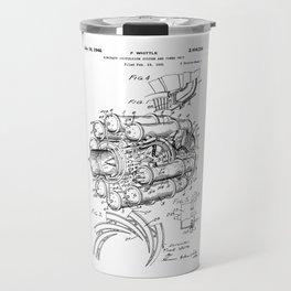 Jet Engine: Frank Whittle Turbojet Engine Patent Travel Mug