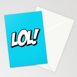 Laughing Typeface Stationery Cards