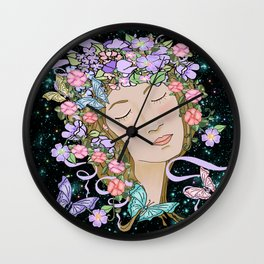 Let your imagination run wild, happy new year 2017 Wall Clock