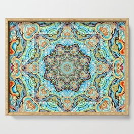 Mandala Tapestry Serving Tray