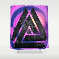 outer space Shower Curtains featuring fun in outer space by Healinglove art products