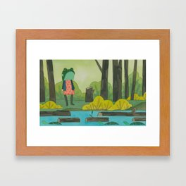 Frogger Framed Art Print