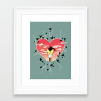 butterflies Framed Art Prints featuring Butterflies by Freeminds