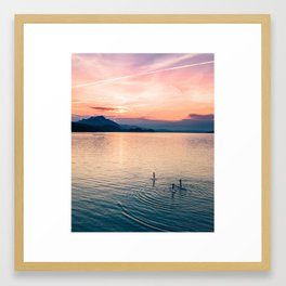 SUP Sunset Framed Art Print