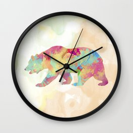 Abstract Bear Wall Clock
