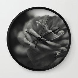 Rose in bnw Wall Clock