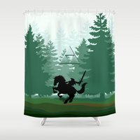 the legend of zelda Shower Curtains featuring Legend Of Zelda by Kesen