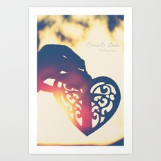 Heart of wax Art Print
