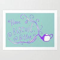 Biscuit (purps) Art Print