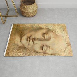 """Leonardo da Vinci """"Woman's head"""" 1. Rug"""