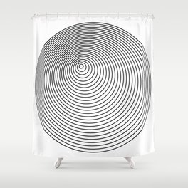 Pure & Simple - Minimal Circles Dome Shower Curtain