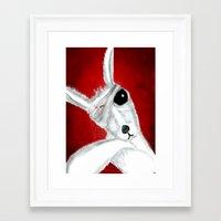 kangaroo Framed Art Prints featuring Kangaroo by Soso Creation