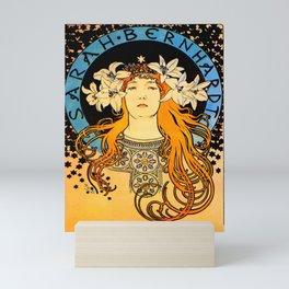 "Alphonse Mucha ""Sarah Bernhardt"" Mini Art Print"