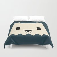 yeti Duvet Covers featuring Yeti by Yetiland