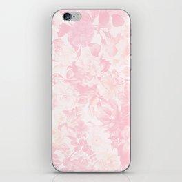 Vintage blush pink baby yellow roses flowers iPhone Skin
