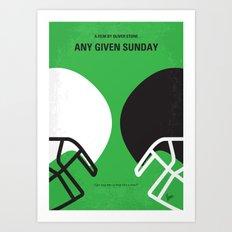No420 My ANY GIVEN SUNDAY minimal movie poster Art Print