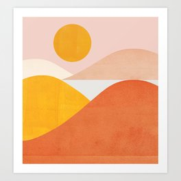 Abstraction_Mountains Art Print