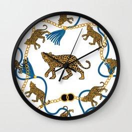 Leopard & chains Wall Clock