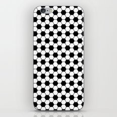 Ball pattern - Football Soccer black and white pattern iPhone & iPod Skin