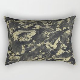 Black Ink on Gold Background Rectangular Pillow