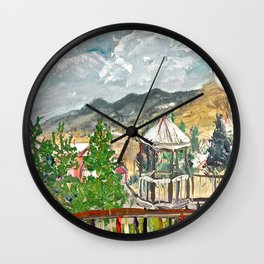 Expression Twin Flowers Wall Clock