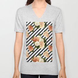 Chrysanthemum Rain Unisex V-Neck