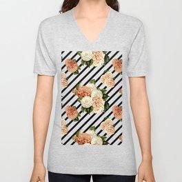 Chrysanthemum Rain Unisex V-Neck
