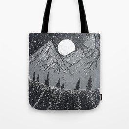 """Moonrise"" Hand-Drawn by Dark Mountain Arts Tote Bag"