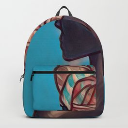 Decorative Headwrap Backpack