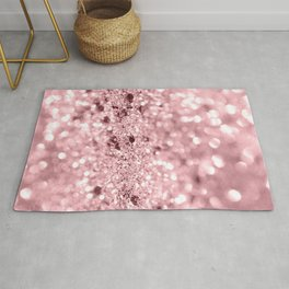 Rose Gold Blush Girls Glitter #1 #shiny #decor #art #society6 Rug