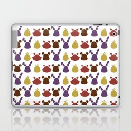 Bear, bunny, chick and a fox patten Laptop & iPad Skin