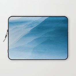 Snowy Blue Mountains (Color) Laptop Sleeve