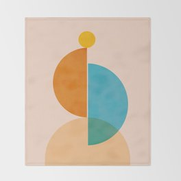 Abstraction_SUN_Rising_Minimalism_001 Throw Blanket