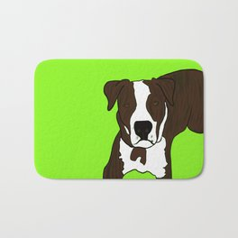 Chico the Brindled Pit Bull Bath Mat