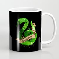 slytherin Mugs featuring Slytherin by Markusian