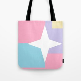 Pastel Star Pattern Tote Bag