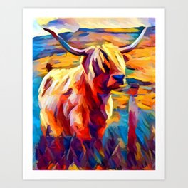 Highland Cow 4 Art Print