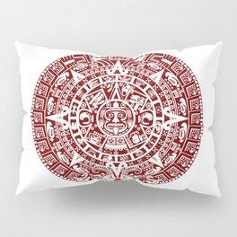Mayan Calendar // Burgundy Pillow Sham