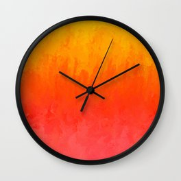 Coral, Guava Pink Abstract Gradient Wall Clock