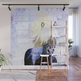 447 Abstract Periwinkle Horse Wall Mural