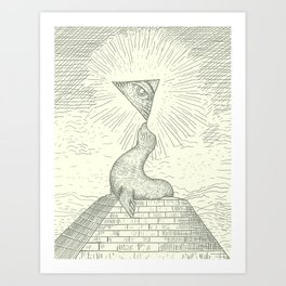 The Masonic Seal Art Print